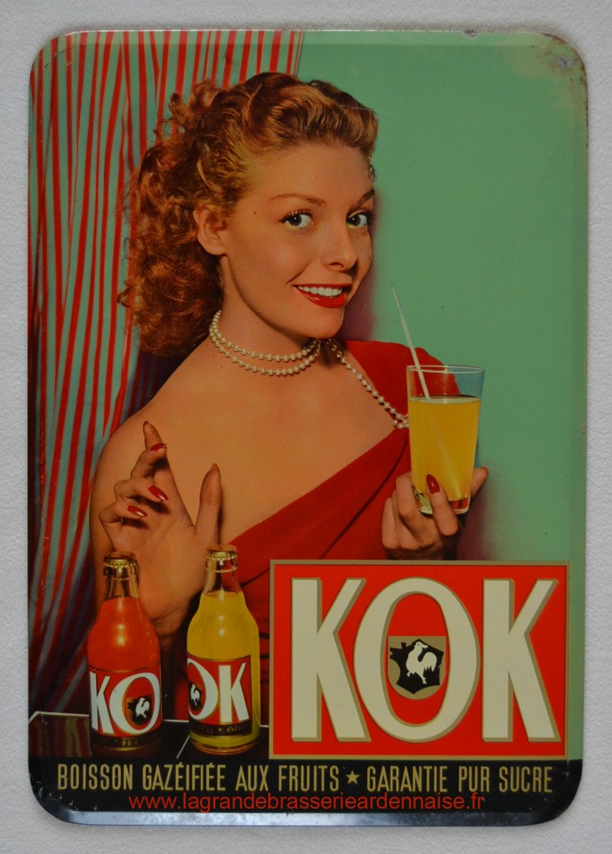 """Glacoide pour le soda """"KOK"""" entre 1953 et 1956. Dim 34 x 24 cm."""