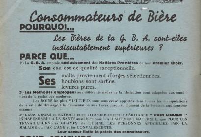 affiche publicitaire grande brasserie ardennaise