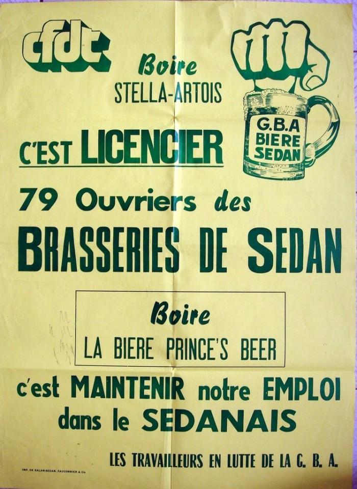 affiche publicitaire gba brasserie sedan