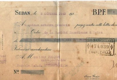 lettre de change brasserie sedan